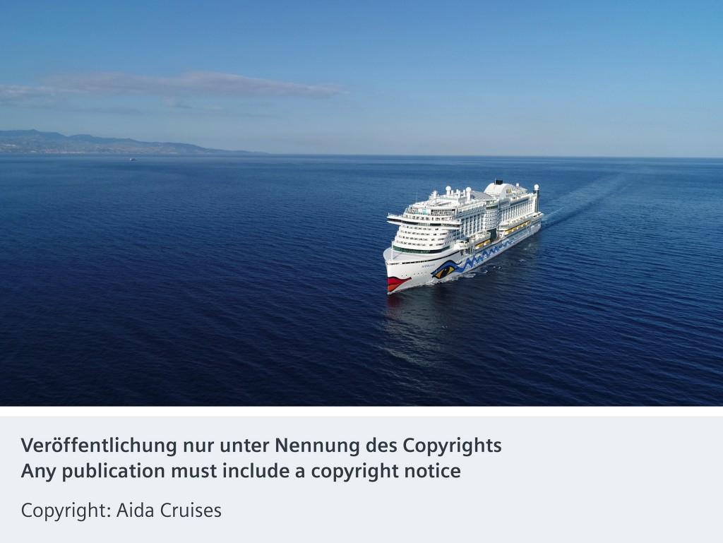 Neuntes mit Siemens-Technik ausgerüstetes Aida-Schiff