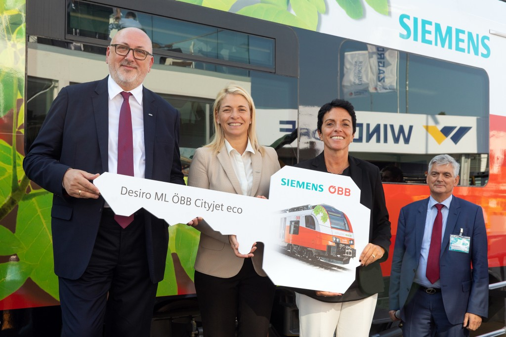 Presentation of the first prototype of the battery-powered regional train type – Desiro ML OeBB Cityjet eco