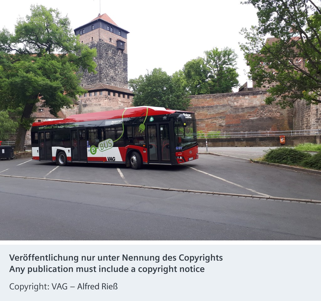 Siemens supports sustainable urban transport with eBus charging infrastructure in Nuremberg