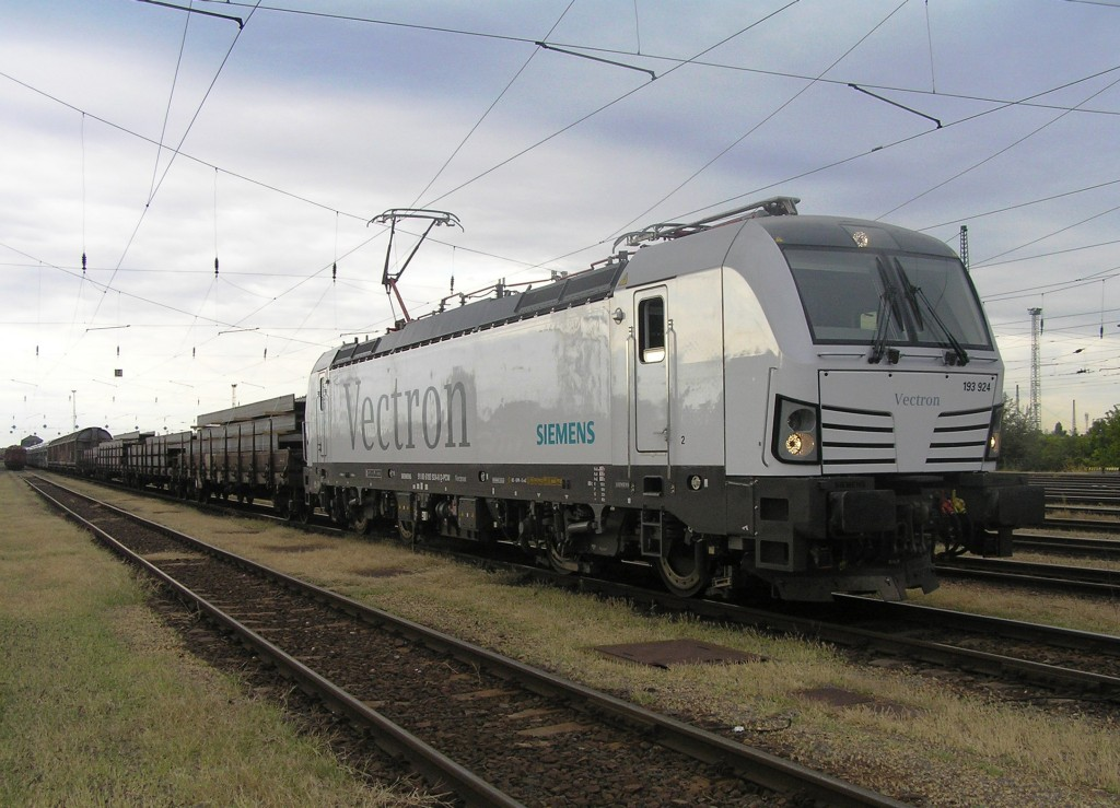 The photo shows the Vectron AC variant in Ferencvaros, Hungary in August 14, 2013.