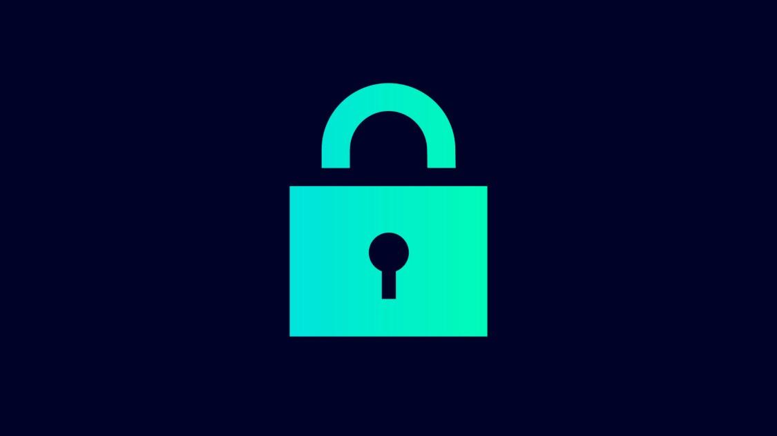Icon zur Sicherheit mit SINEC NMS: ein Sicherheitsschloss.