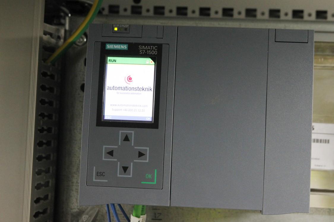 Styrsystemet Simatic S7-1500. Diagnostikmjukvaran Simatic ProDiag används för att generera larm direkt från plc:n till panelerna.