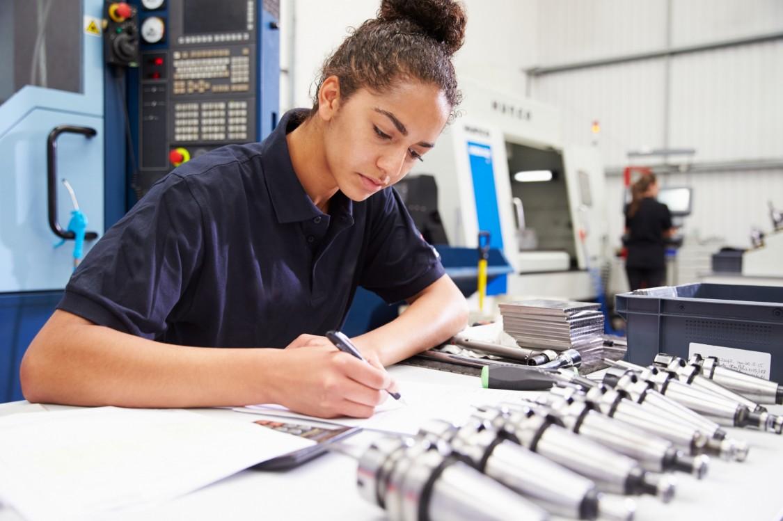 Female engineer student