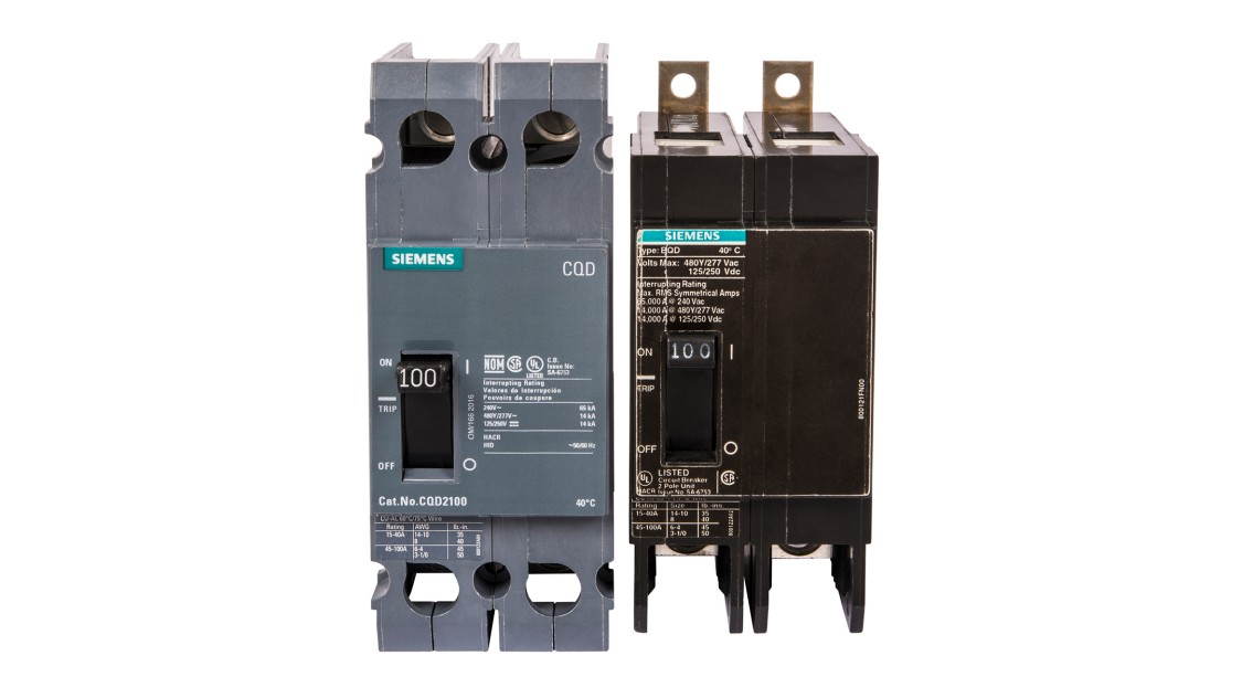 CQD and BQD Molded Case Circuit Breakers