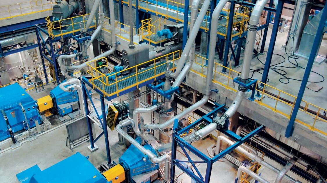 Estonian Cell Blick in die Maschinenhalle