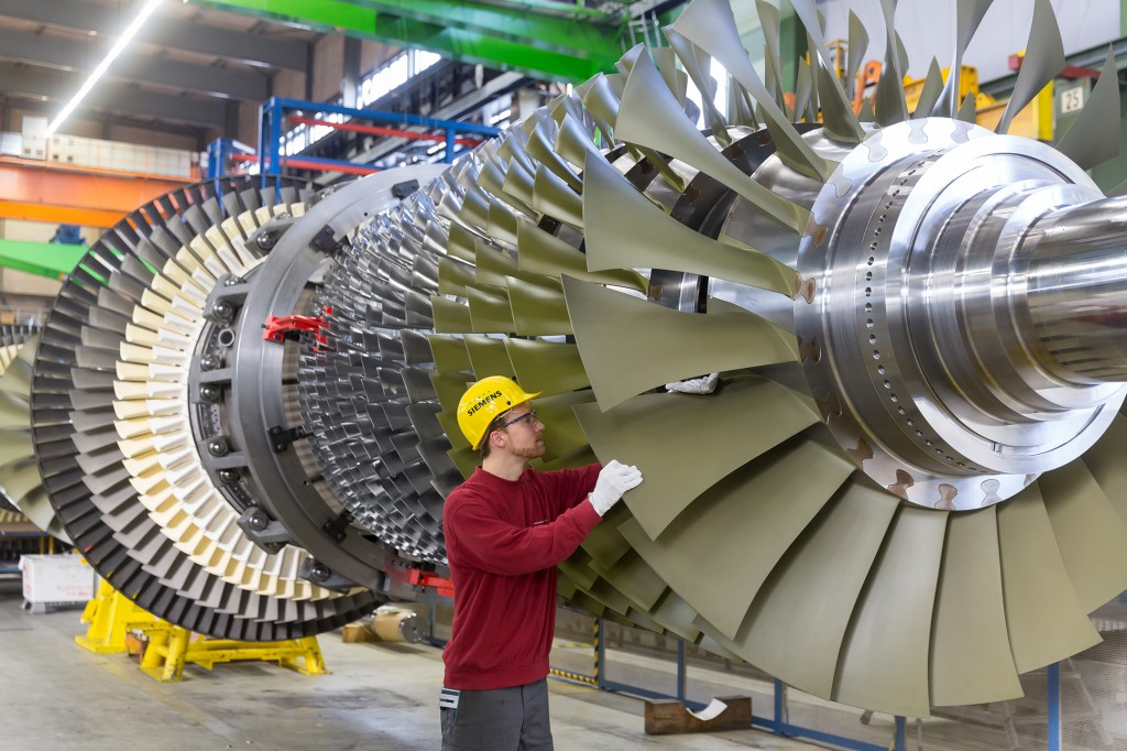 The Siemens gas turbine SGT5-8000H