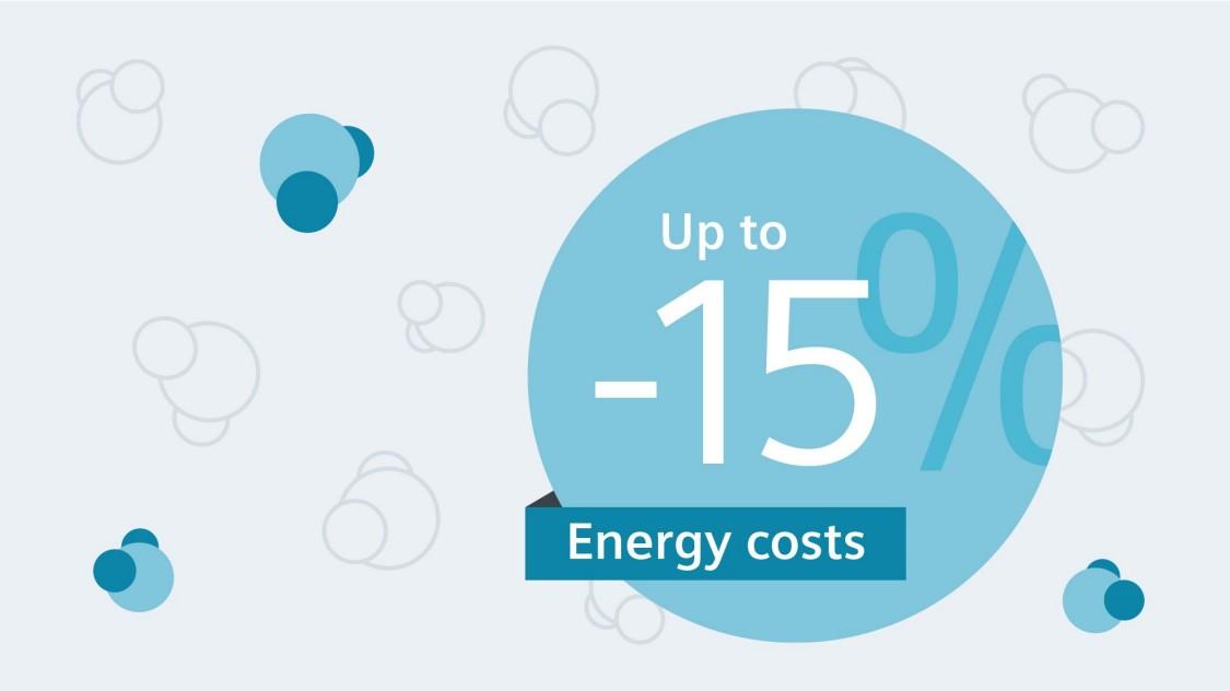 节约能源 – 能源成本降低高达 15%