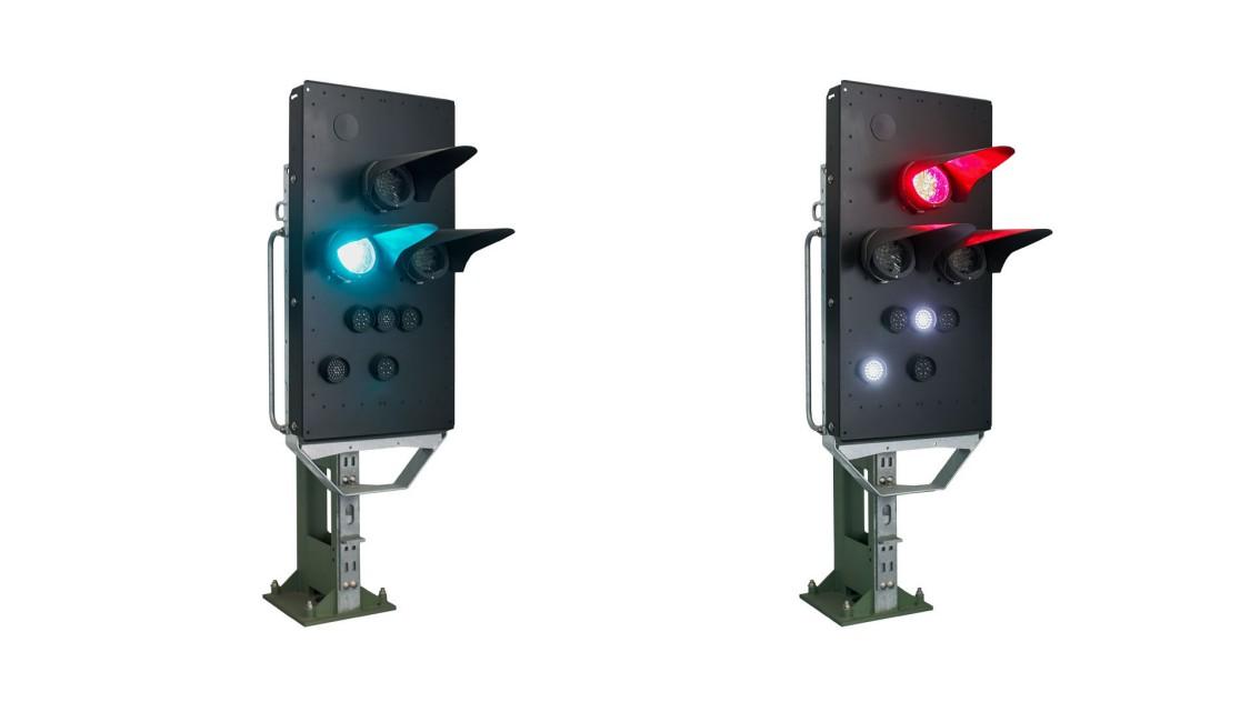sigmaguard zwei lichtsignale eins steht auf rot das andere auf grün