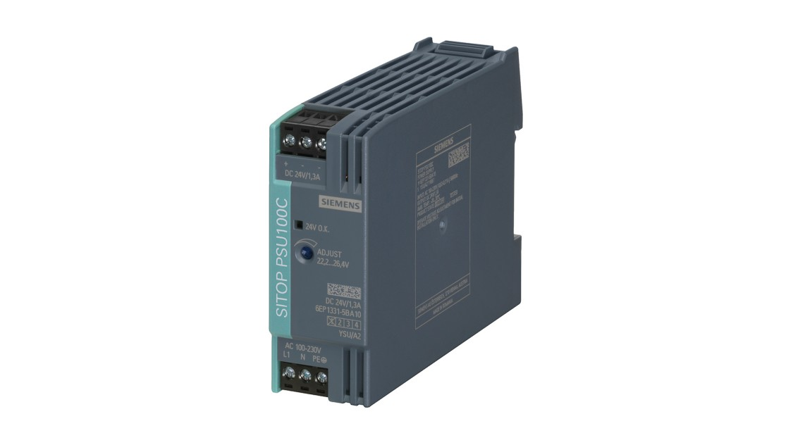 Produktbild SITOP PSU100C, 1-phasig, DC 24 V/1,3 A
