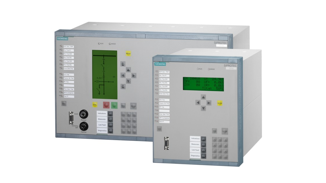 Siprotec 7ST61/7ST63 da Siemens para fonte de alimentação de tração CA.