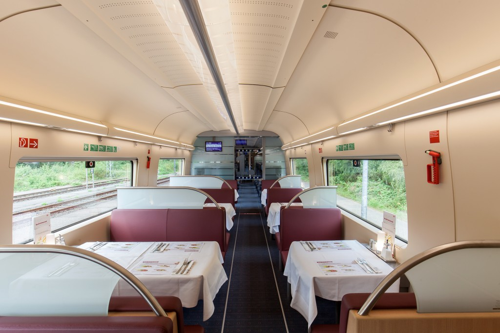 Each ICE 4 has a restaurant car