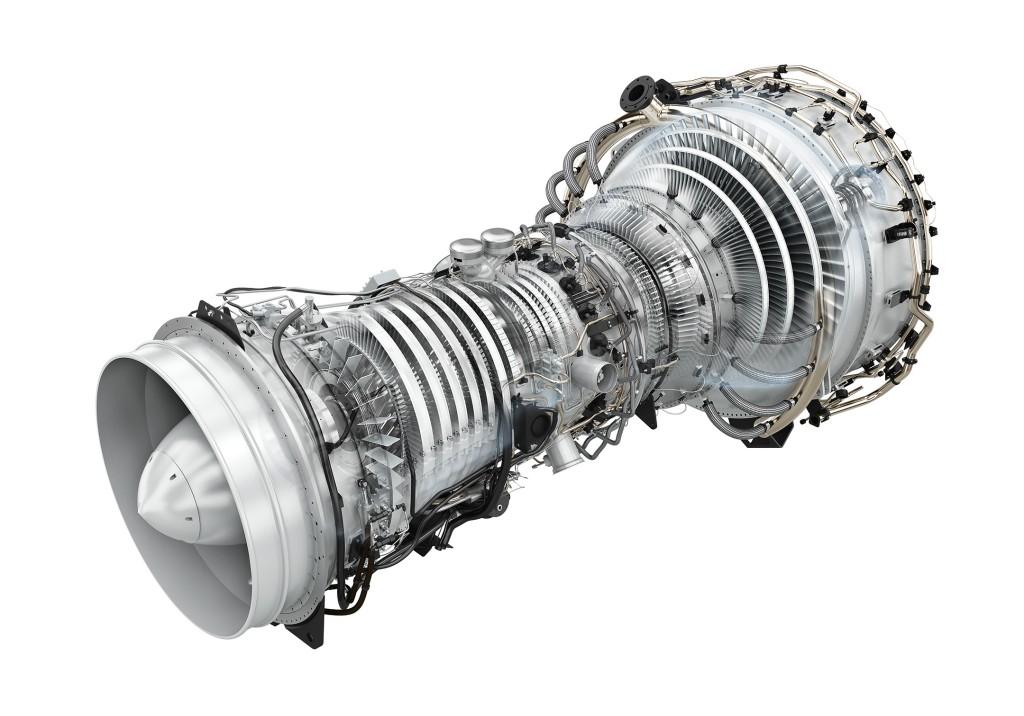 Das Rendering zeigt die leichte Architektur der SGT-A35 RB Gasturbine