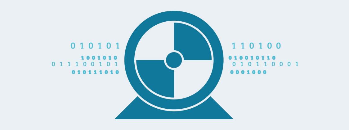 Ein Motor-Symbol und Datenflüsse