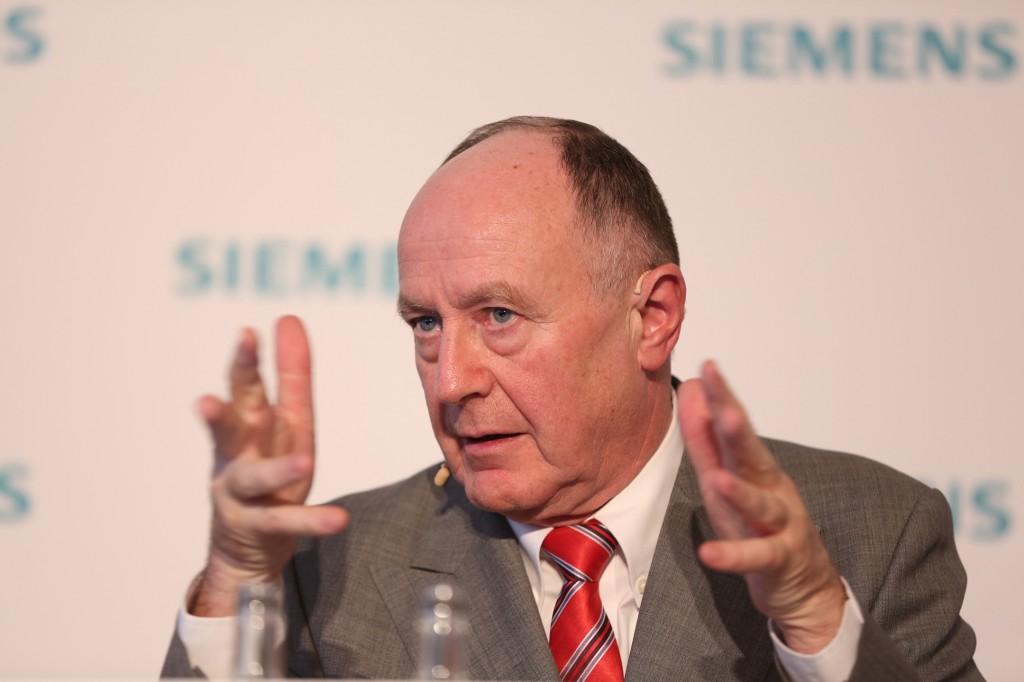 Anton S. Huber auf der Siemens Pressekonferenz im Vorfeld der Hannover Messe 2016