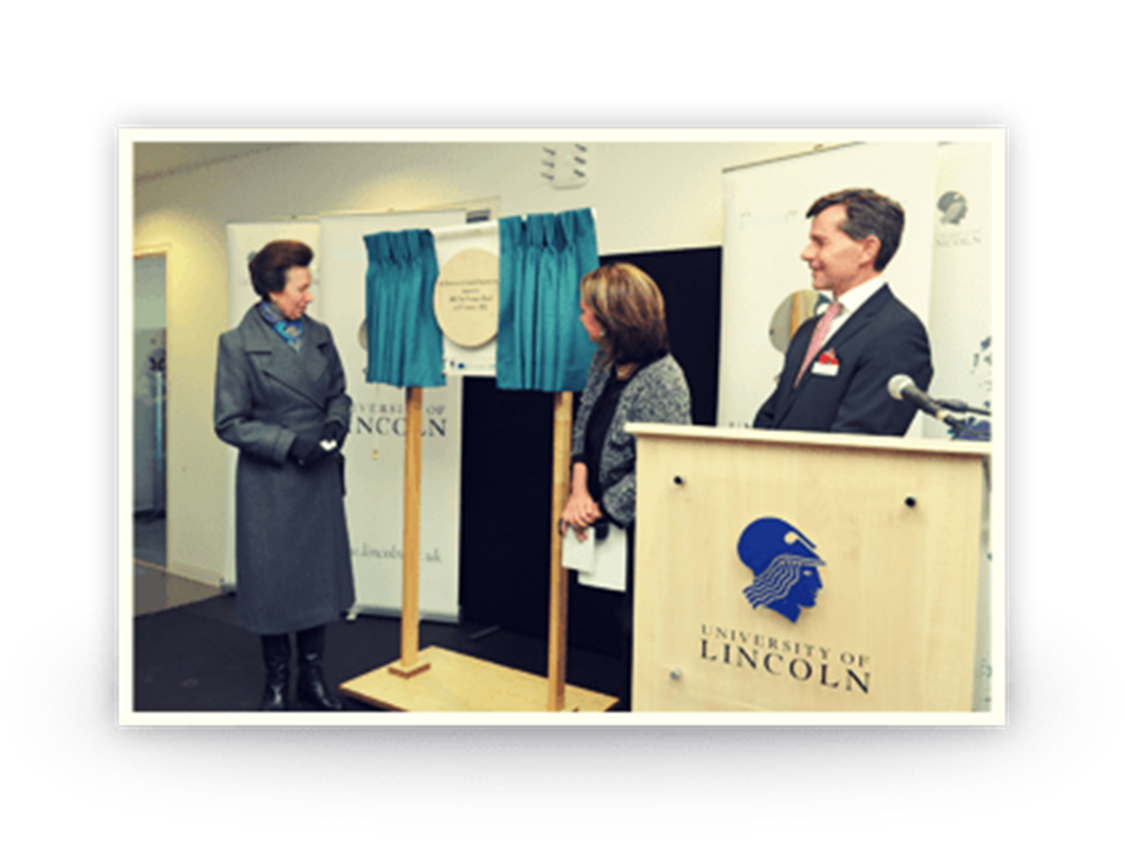 HRH Princess Royal opened a new Engineering school in Lincoln, developed by Siemens and the University of Lincoln.