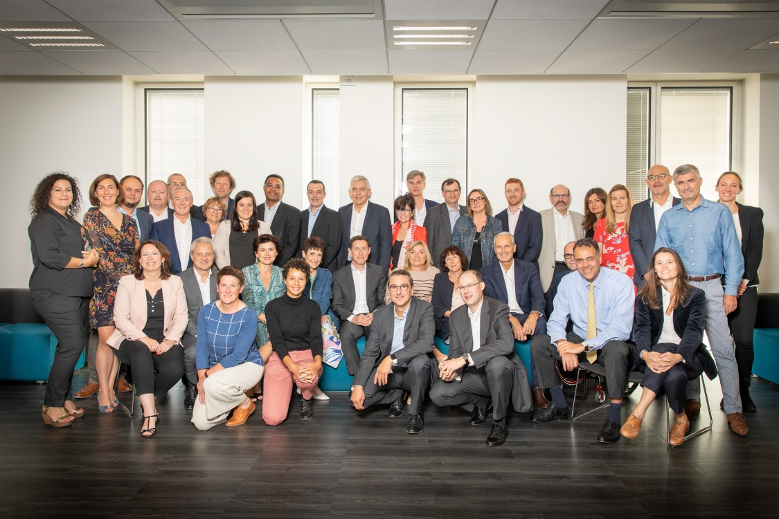 Photo de groupe : membres signataires de l'initiative #StOpE