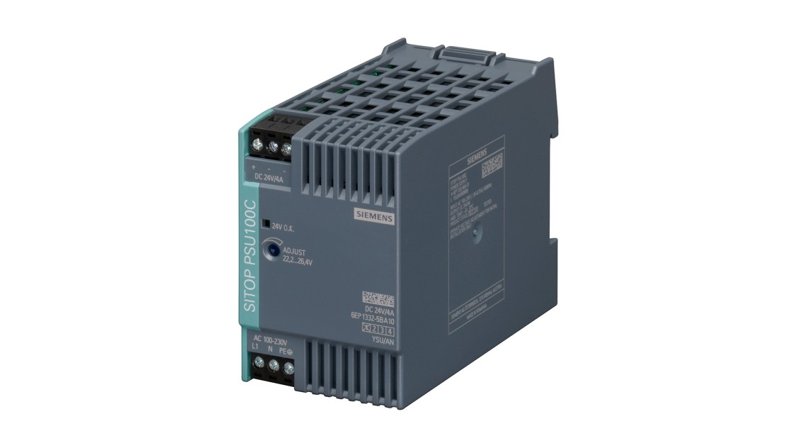 Product image SITOP PSU100C, 1-phase, DC 24 V/4 A
