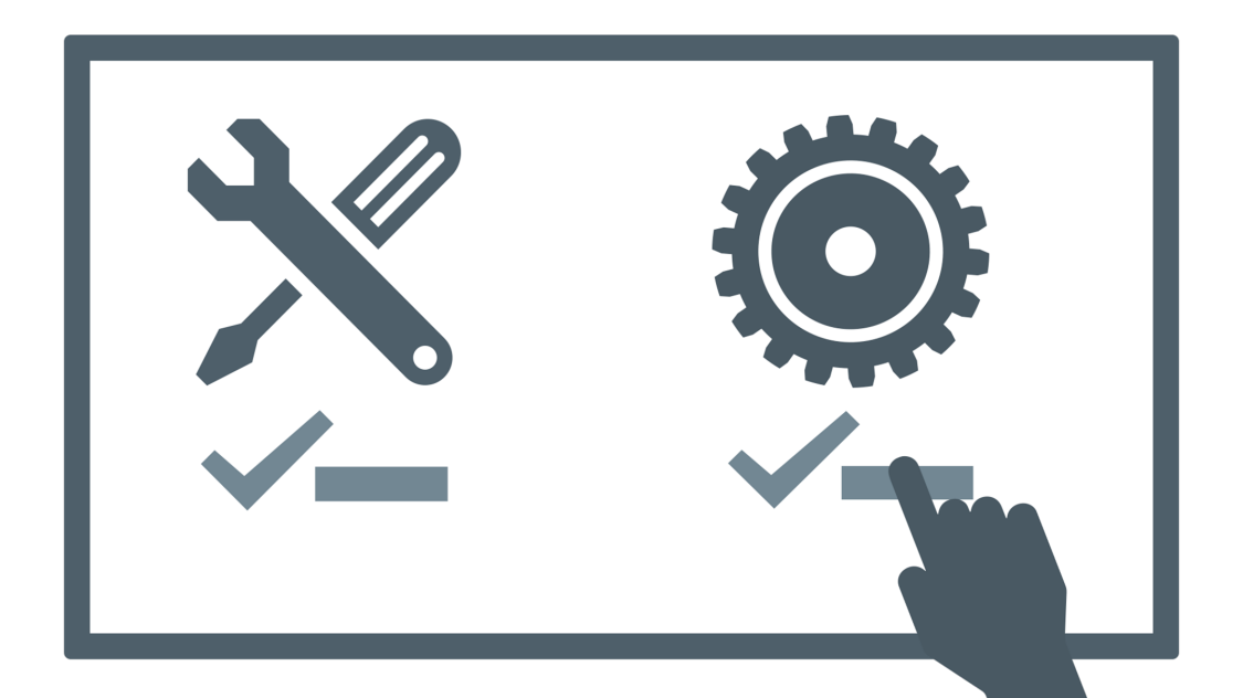 Illustration Werkzeugmaschine Analyse