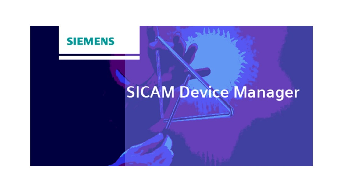 Engineering software for SICAM A8000 - SICAM Device Manager - side view