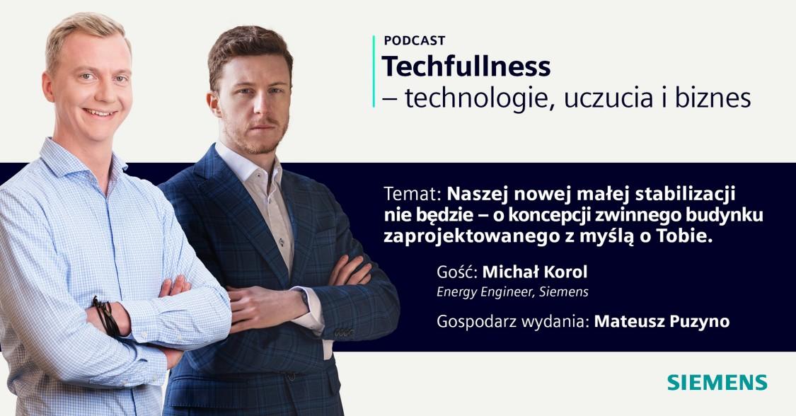 Zdjęcie przedstawia dwóch pracowników Siemensa - Michała Korola oraz Mateusza Puzyno