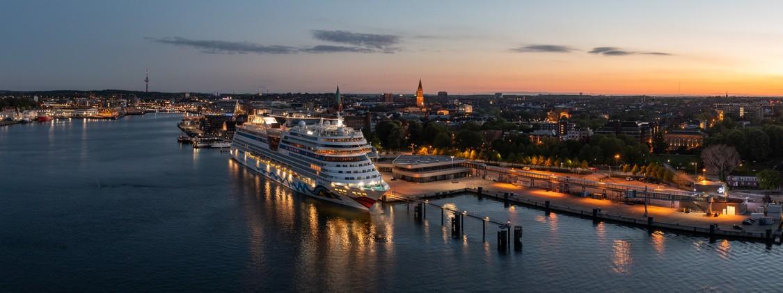 Cruise ship Aida at the Port of Kiel.