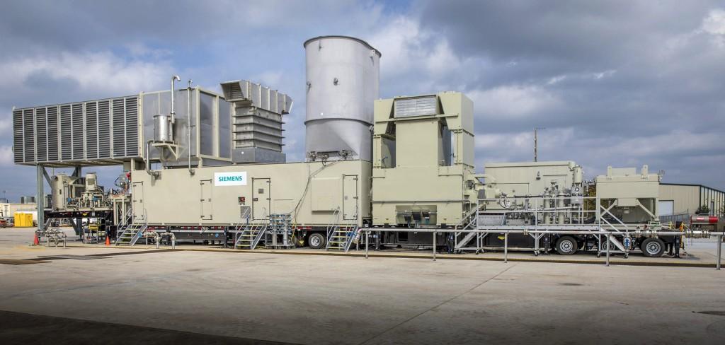 Das Bild zeigt die vormontierte SGT-A45 am Produktionsstandort in Houston, Texas, USA.