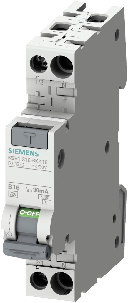 New residual current breaker (RCBO) 5SV1