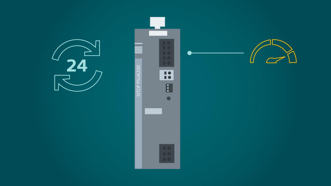 SITOP PSU6200により、システム稼働時に高レベルの安全性を確保