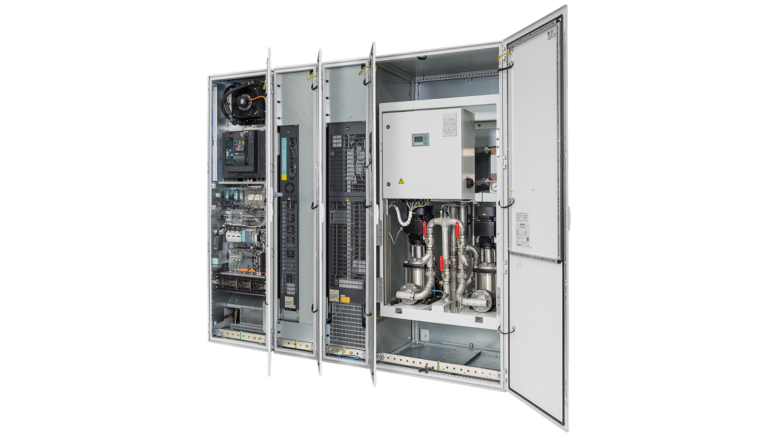 SINAMICS S120 CM enclosed cabinet module drives liquid-cooled