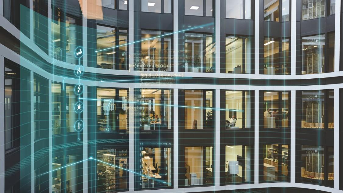 Bild eines modernen Bürogebäudes