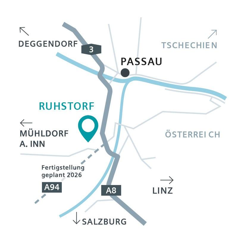 Technopark Ruhstorf Anfahrtsplan