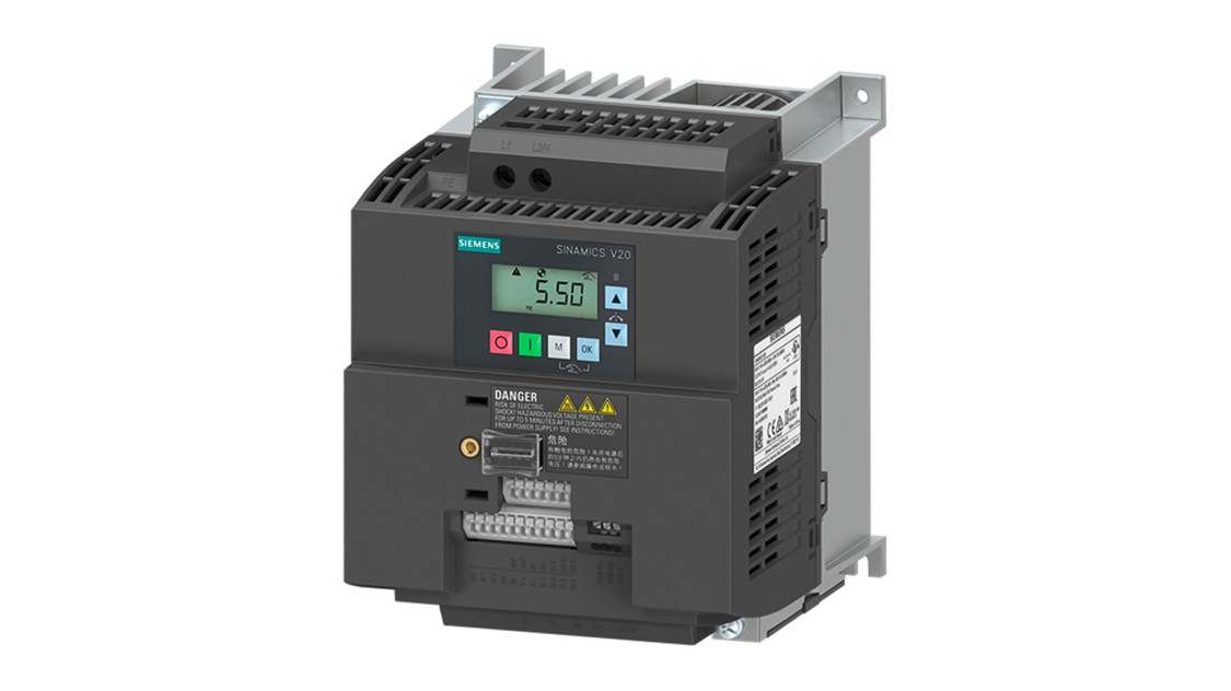 Product image SINAMICS V20 frekvenciaváltók új házméretben