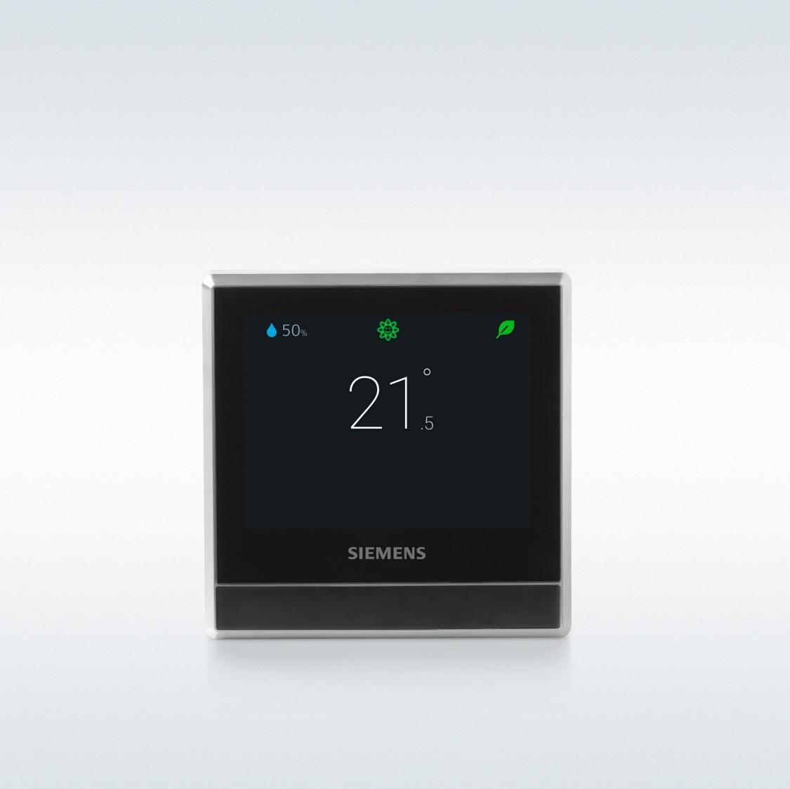 Chytrý termostat RDS110 s integrovaným čidlem prostorové teploty, relativní vlhkosti a kvality vzduchu.