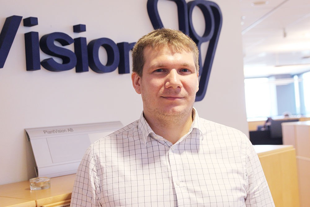 Martin Ranne, senior konsult och Simitexpert på PlantVision.