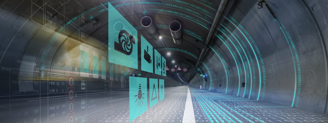 Der virtuelle und der reale Tunnel (Copyright: Siemens AG)