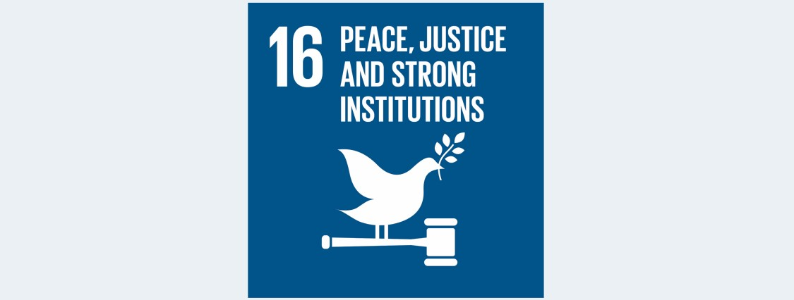 SDG 16: Peace, justice and strong institutions