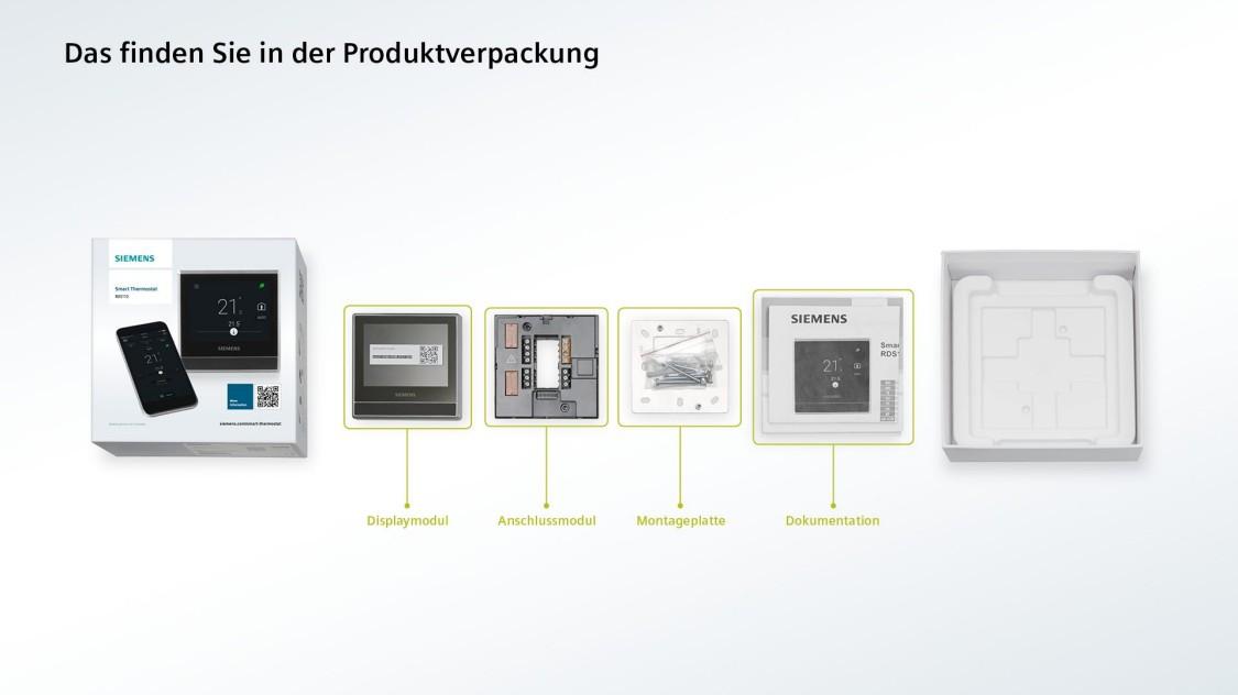 Was Sie in der Produktverpackung finden