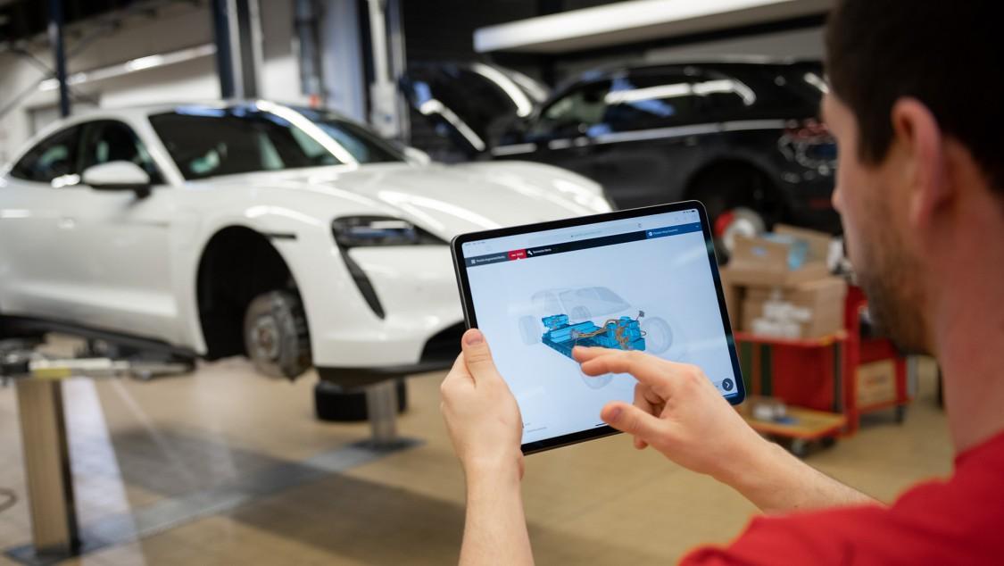 Porsche setzt für Service und Wartung des Taycan auf Augmented Reality und Siemens Teamcenter