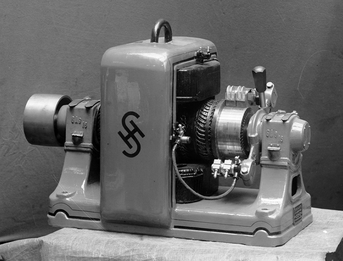 S&H trademark on an electric motor