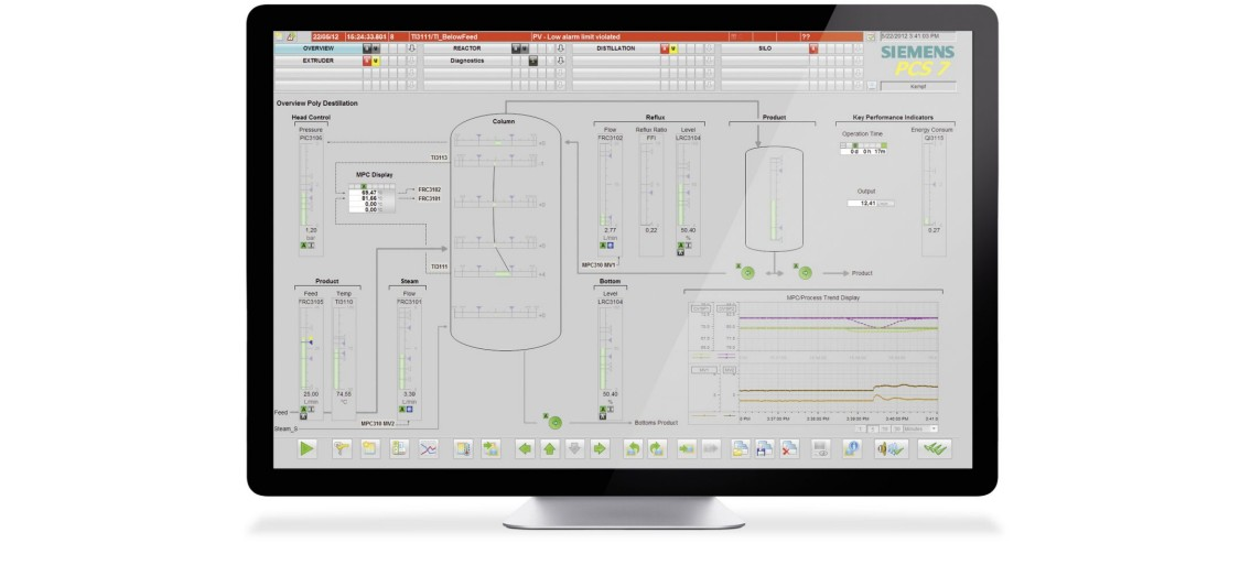Manage automated processes in the digital factory with SIMATIC PCS 7