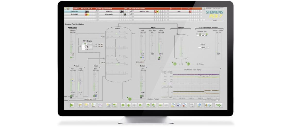 Verwaltung von automatisierten Prozessen in der digitalen Fabrik mit SIMATIC PCS 7