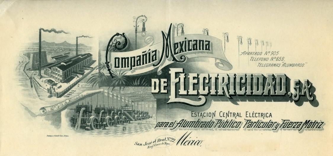 letterhead of Compañia Mexicana de Electricidad S.A