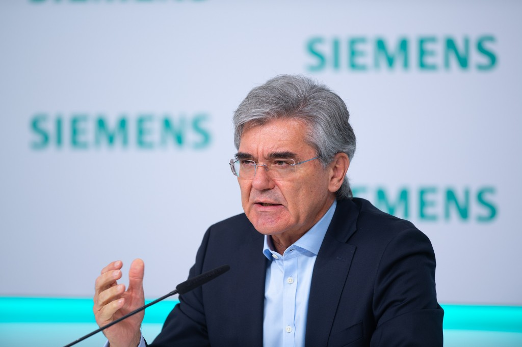 Joe Kaeser, President and CEO of Siemens AG, reviews fiscal 2020 at the virtual Annual Press Conference on November 12, 2020, at Siemens headquarters in Munich, Germany.