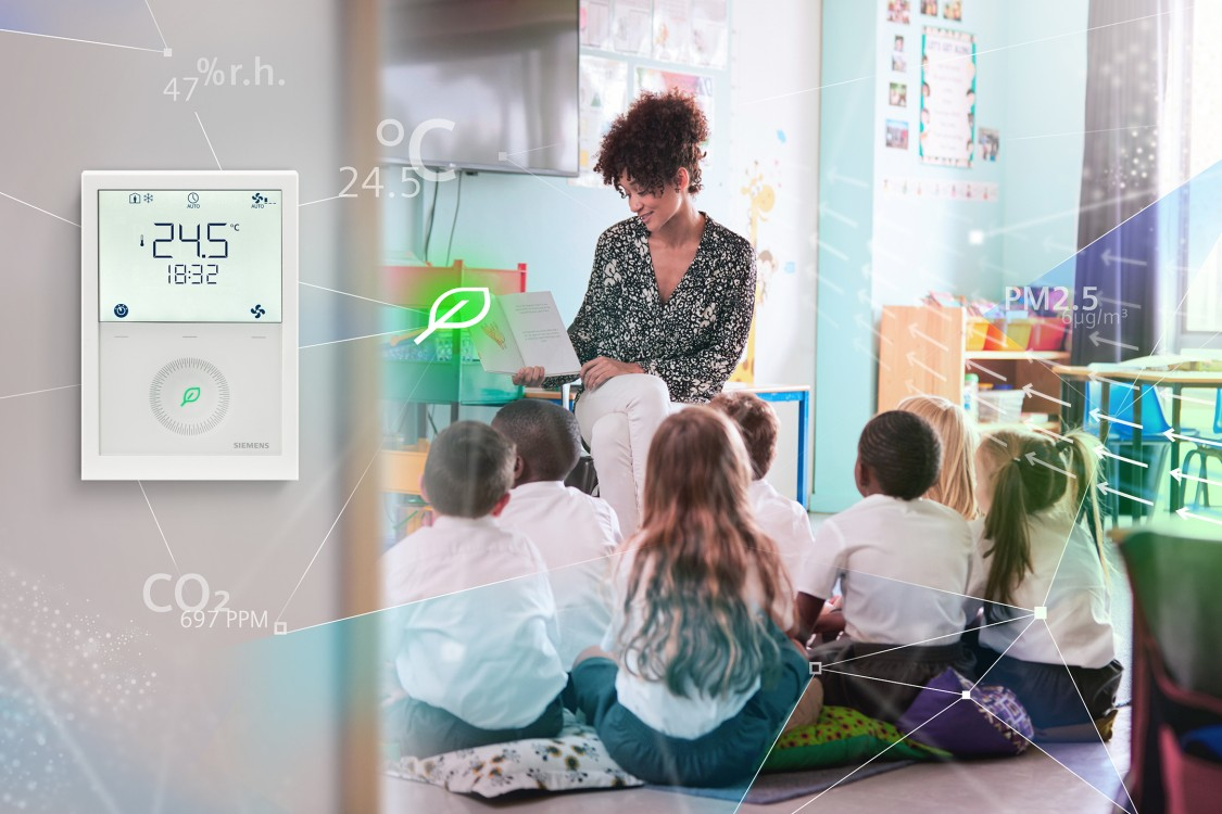room thermostat for optimum conditions in class rooms