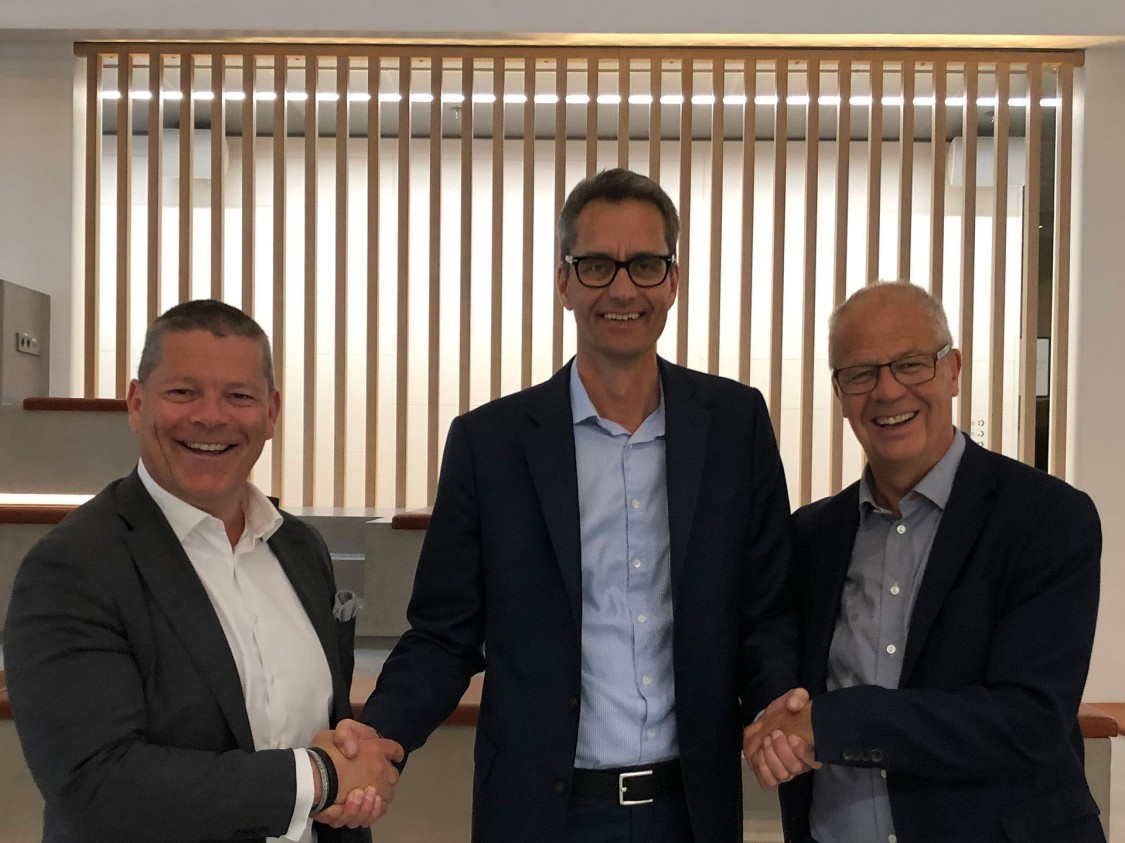 Mats Friberg, Siemens Digital Industries Software, Robert Larsson, AFRY, och Göran Persson, Siemens Digital Industries. Foto: AFRY.