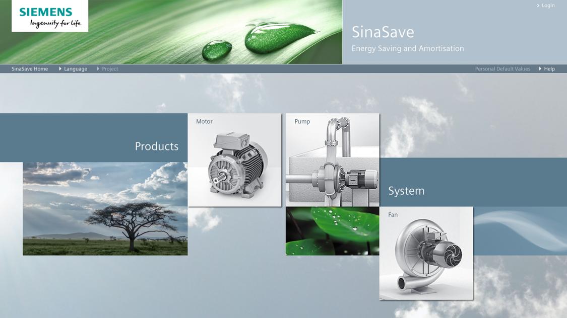 Screenshot SinaSave energy efficiency tool