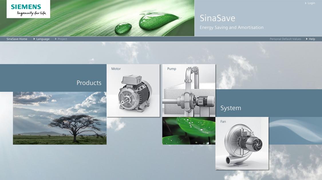 Grafik SinaSave energy efficiency tool