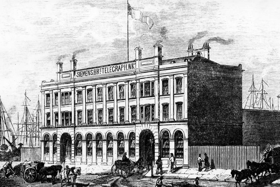 Kabelfabrik in Woolwich, gegründet 1863