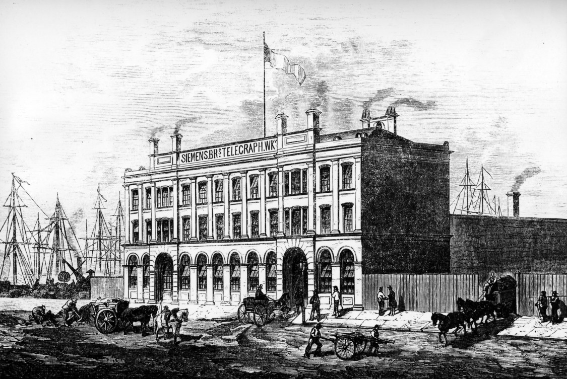 Cable factory in Woolwich, established 1863