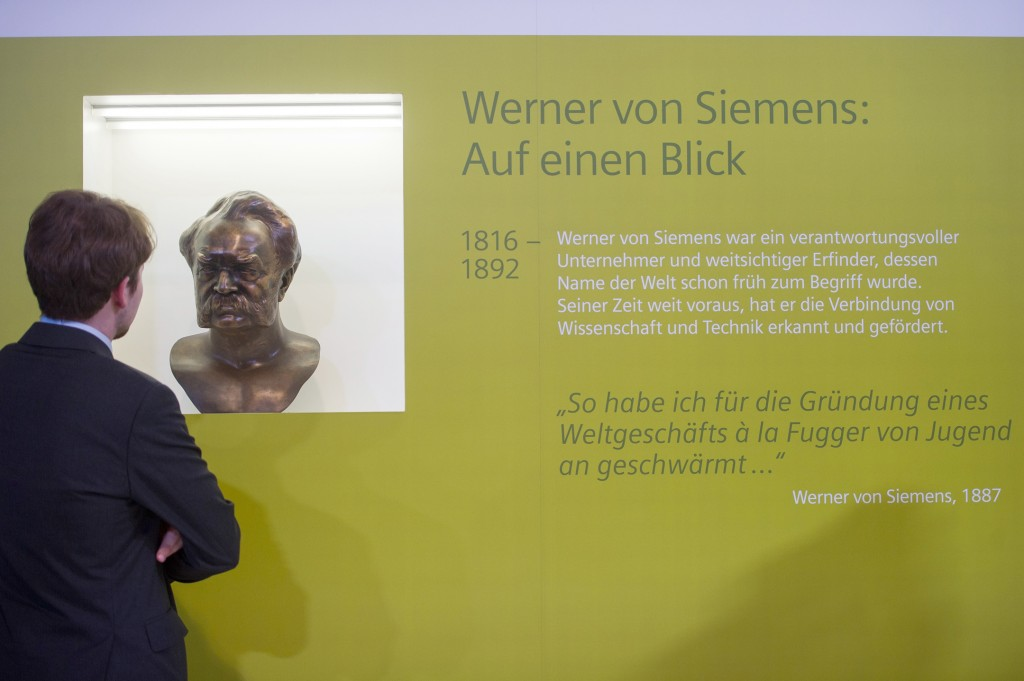 Siemens commemorates the 200th birthday of its company founder, Werner von Siemens (December 13, 1816 – December 6, 1892), with a bronze bust.